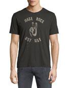 Make Rock, Not War Graphic T-Shirt