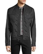 Denim-Style Zip-Front Jacket