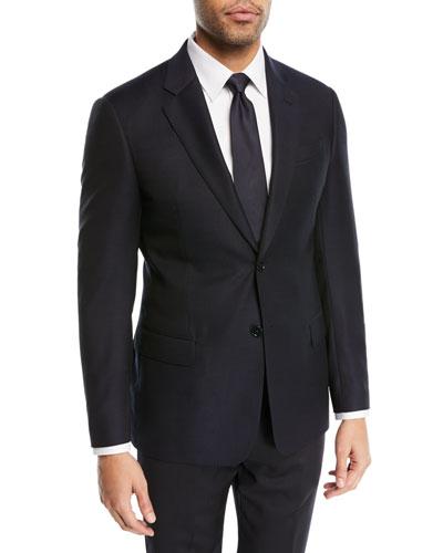 Two-Button Wool Blazer, Navy