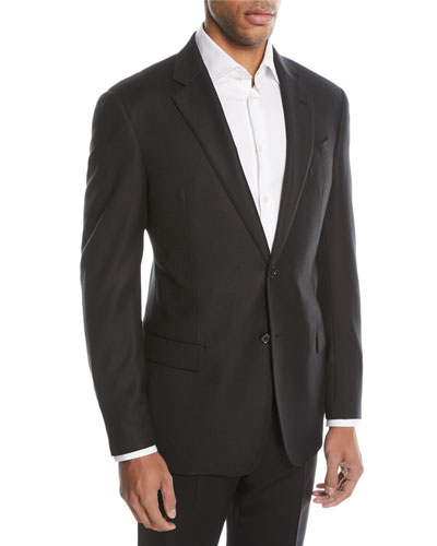 G-Line Textured Two-Button Sport Jacket, Black
