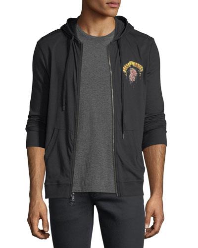John Varvatos Guns N 39 Roses Graphic Zip Hooded Sweatshirt