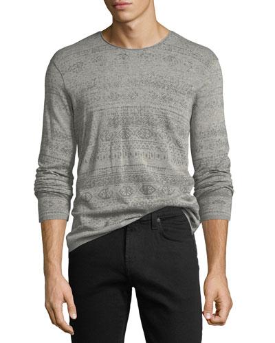 Graphic-Print Crewneck Sweater