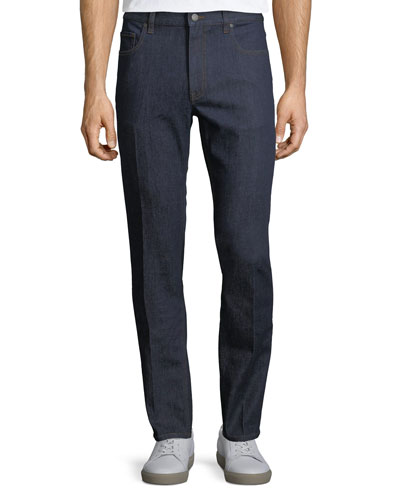 Five-Pocket Stretch-Cotton Denim Jeans