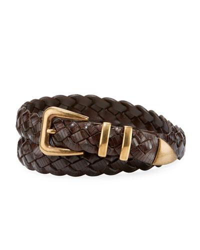 Braided Leather Belt
