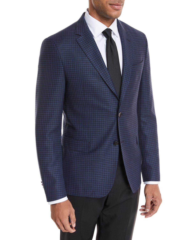 Small Windowpane Wool Jacket