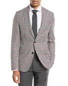 Windowpane Wool Sport Coat