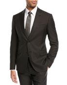 Pindot Wool/Silk Two-Piece Suit