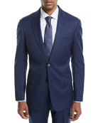 Graph Check Two-Piece Wool Suit