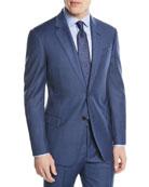 Two-Piece Wool Sharkskin Suit