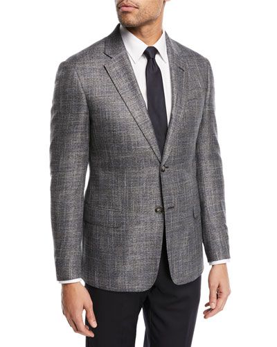 Textured Two-Button Jacket