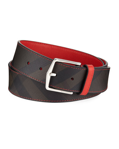 Joe Contrast-Trim Check Belt