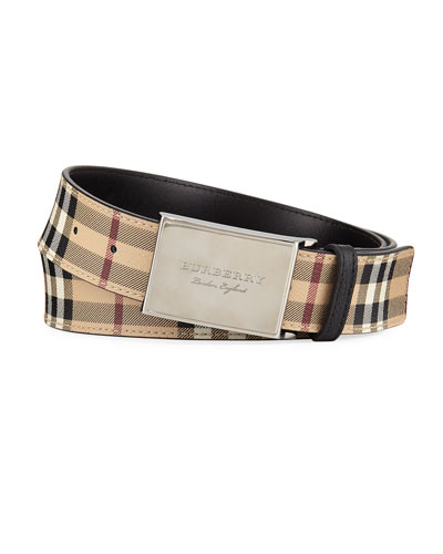 George New Haymarket Check Belt