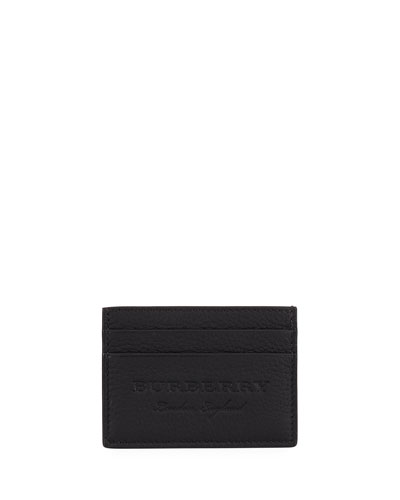 Sandon Leather Card Case, Black