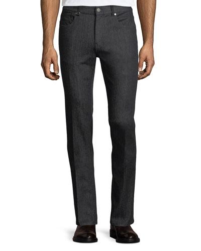 Slim-Leg Stretch-Denim Jeans