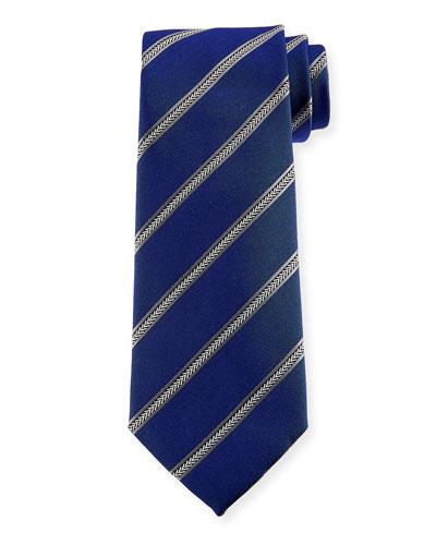 Arrow Striped Silk Tie