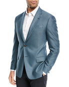 Textured Ocean Blue Blazer