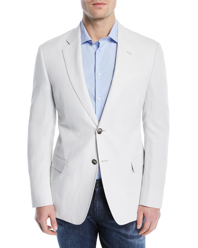 Solid Lyocell/Linen Weave Soft Jacket