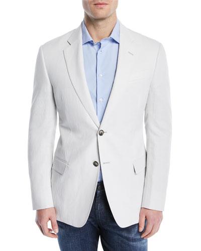 Solid Lyocell/Linen Weave Soft Jacket