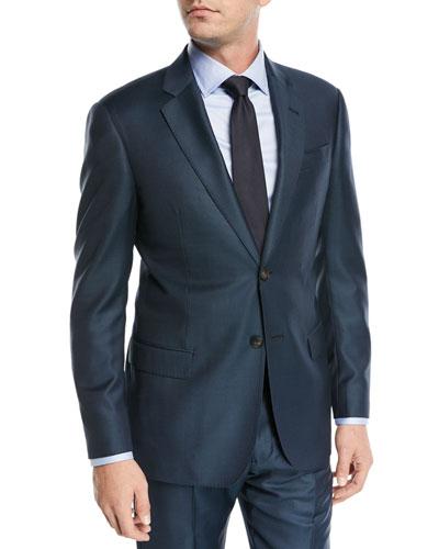 Birdseye Two-Piece Wool Suit