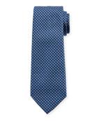 V Box Silk Tie, Blue