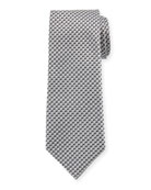 V Box Silk Tie, Dark Gray