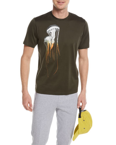 Jellyfish-Graphic Cotton T-Shirt