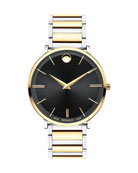 Men's Ultra Slim Two-Tone Watch