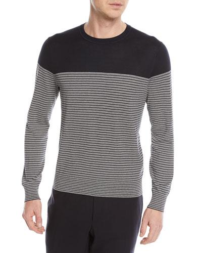 Striped Silk-Blend Sweater