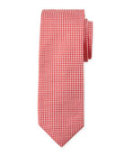 Diamond-Texture Silk Tie