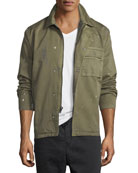 Hudson Men's Twill Military Jacket