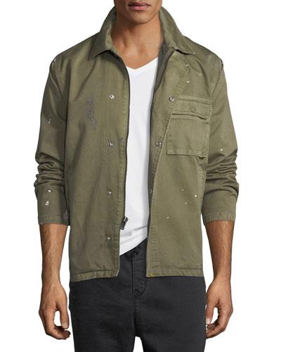 Men's Twill Military Jacket