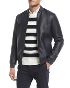 Sterling Woven-Leather Jacket