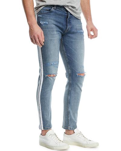 OS-1 Side-Stripe Slim Skinny Jeans