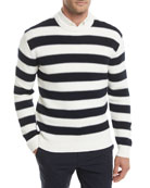 Mareen Striped Breach Sweater