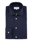 Contemporary Fit Micro-Dot Cotton Dress Shirt