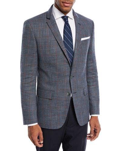 Windowpane Wool-Blend Sport Coat