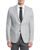 Large Plaid Linen Jacket