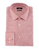 Slim Fit Textured Cotton Dress Shirt