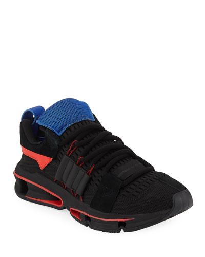 Men's Twinstrike ADV Colorblock Running Sneakers, Black