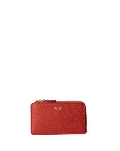 Zip-Around Leather Card Case