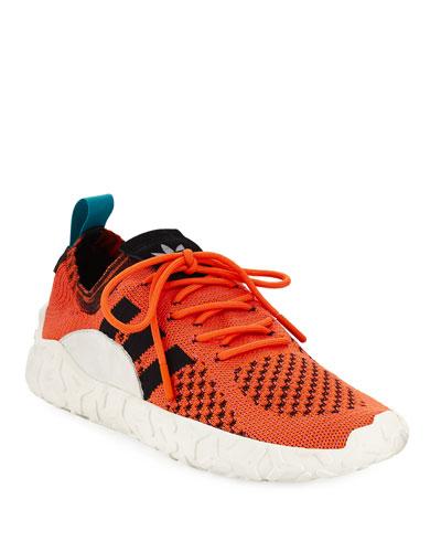 Men's F22 PK Stretch-Knit Sneakers, Orange