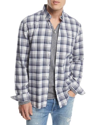 Men's Seattle Brushed Plaid Sport Shirt