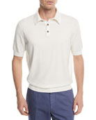 Banded-Hem Cotton Polo Shirt