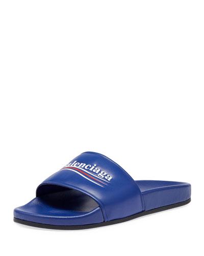 Campaign Logo Pool Slide Sandal