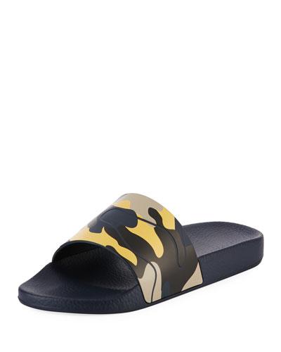 Rockstud Camo Vinyl Pool Slide Sandal
