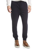 Cotton-Blend Jogger Pants