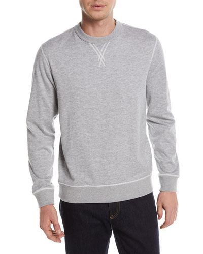 Heathered Cotton/Cashmere Sweatshirt