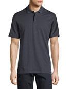 Jacquard Silk-Blend Polo Shirt