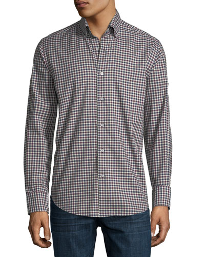 Medium Gingham Sport Shirt