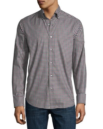 Medium Gingham Sport Shirt